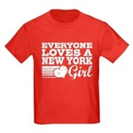 Everyone Loves a New York Girl Kids Dark T-Shirt