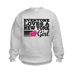 Everyone Loves a New York Girl Kids Sweatshirt