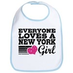 Everyone Loves a New York Girl Bib