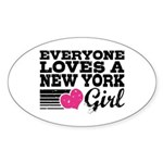 Everyone Loves a New York Girl Sticker (Oval)
