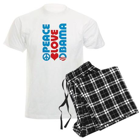 Peace Love Obama Men's Light Pajamas