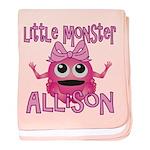 Little Monster Allison baby blanket