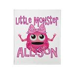 Little Monster Allison Throw Blanket