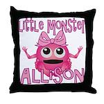 Little Monster Allison Throw Pillow