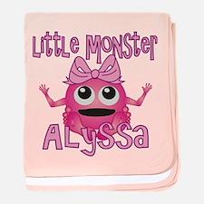 Little Monster Alyssa baby blanket