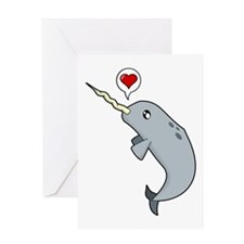 Narwhal Love Greeting Card
