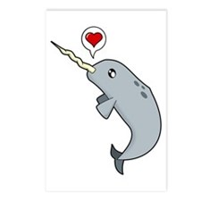 Narwhal Love Postcards (Package of 8)