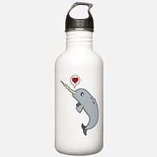 Narwhal Love Water Bottle