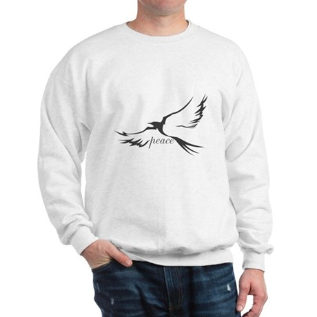 Winged Peace Charcoal Sweatshirt