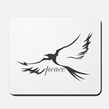 Winged Peace Charcoal Mousepad