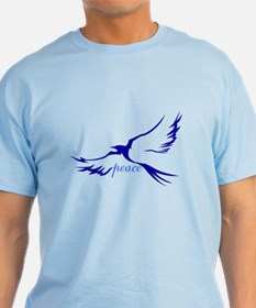 Winged Peace Blue T-Shirt