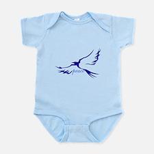 Winged Peace Blue Infant Bodysuit