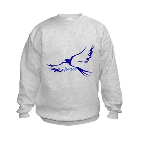 Winged Peace Blue Kids Sweatshirt
