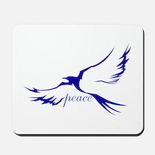 Winged Peace Blue Mousepad