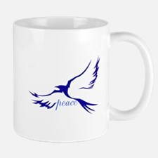 Winged Peace Blue Mug