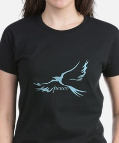 Winged Peace on Dark Tee