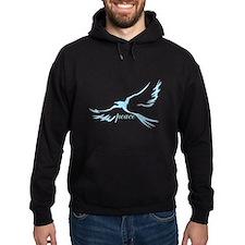 Winged Peace on Dark Hoodie