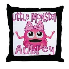 Little Monster Aubrey Throw Pillow