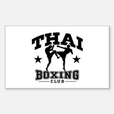 Thai Boxing Sticker (Rectangle)