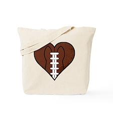 I Love Football Heart Tote Bag