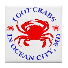 I got crabs in Ocean City Tile Coaster