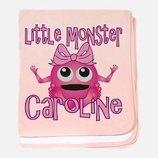 Little Monster Caroline baby blanket