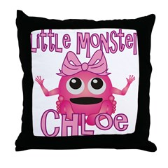 Little Monster Chloe Throw Pillow