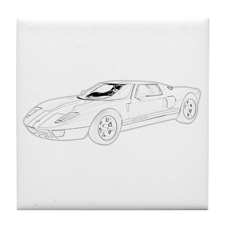 Ford GT Tile Coaster