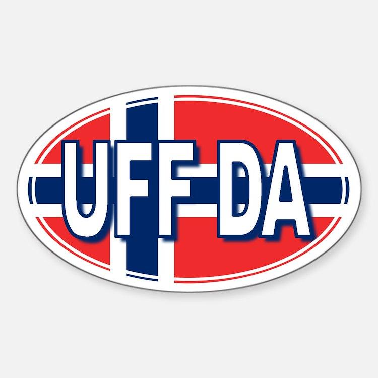 UFF DA - Oval Decal