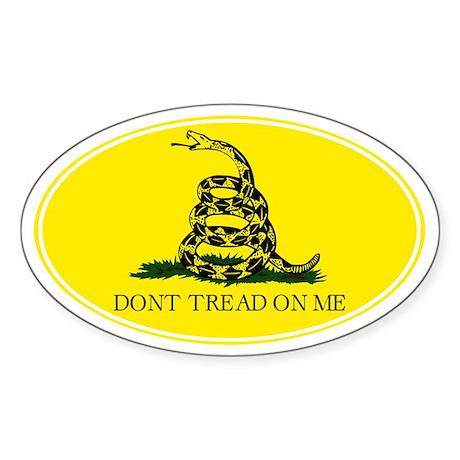 Don't Tread On Me - Sticker (Oval)