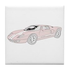 Ford GT -colored Tile Coaster