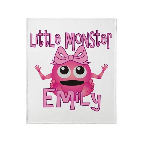 Little Monster Emily Throw Blanket