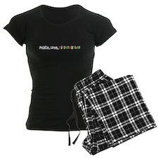Peace, Love, Kindergarten Pajamas