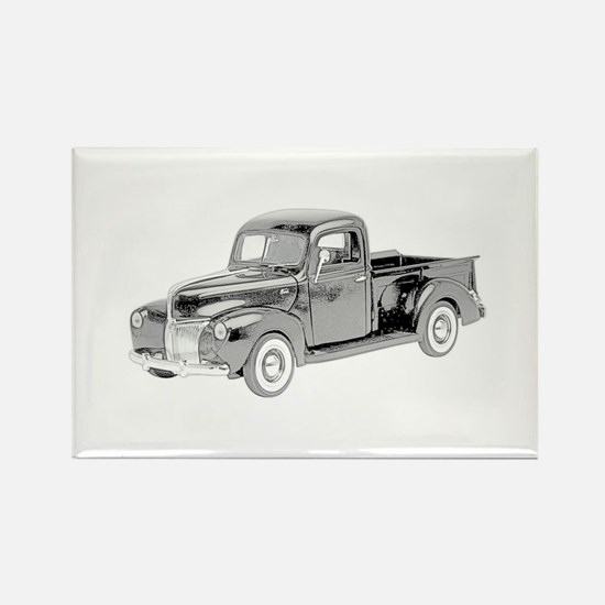 Ford Pickup 1940 -colored Rectangle Magnet