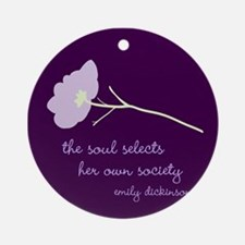 Soul Selects Plum Ornament (Round)