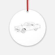 Ford Thunderbird 1956 Ornament (Round)