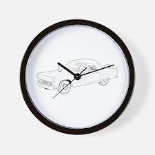 Ford Thunderbird 1956 Wall Clock