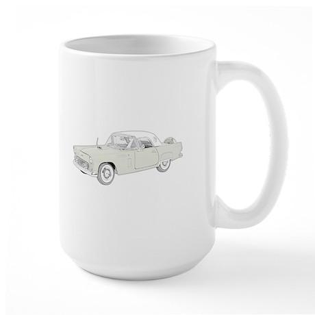 Ford Thunderbird 1956 -colore Large Mug