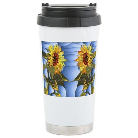 Sunflower Introduction Stainless Steel Travel Mug