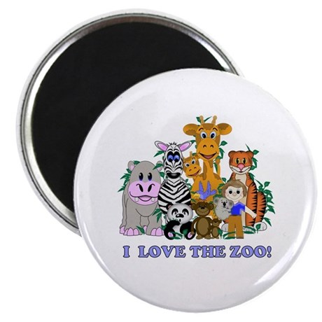 """I love the Zoo 2.25"""" Magnet (10 pack)"""