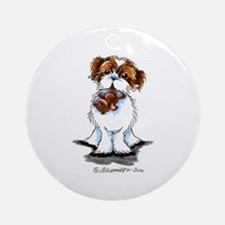 Shih Tzu Bear Ornament (Round)