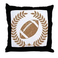Vintage Football Graphic Throw Pillow