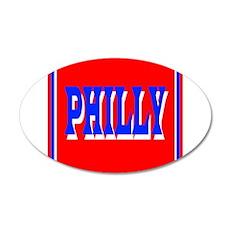Philadelphia 22x14 Oval Wall Peel