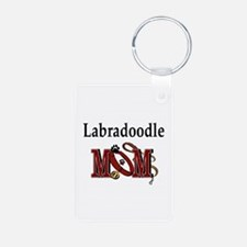Labradoodle Gifts Aluminum Photo Keychain