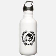 Vintage Football Graphic Water Bottle