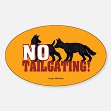 Anti-Tailgate Sticker (Oval)