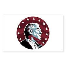 Ron Paul Circle Sticker (Rectangle)