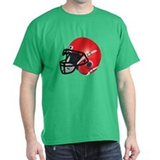 Red Football Helmet T-Shirt