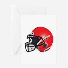 Red Football Helmet Greeting Card