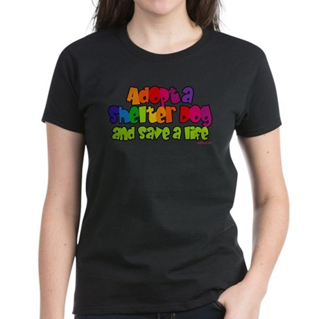 Adopt Shelter Dog Women's Dark T-Shirt